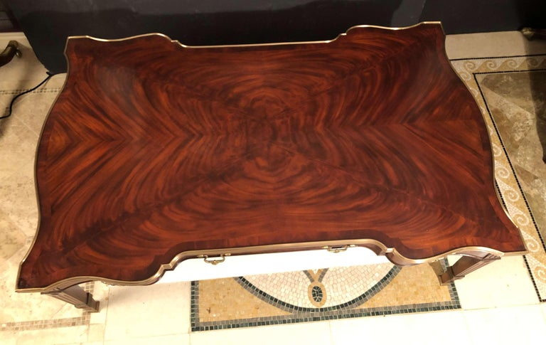 Contemporary Chippendale Style Mahogany Cocktail Table For Sale