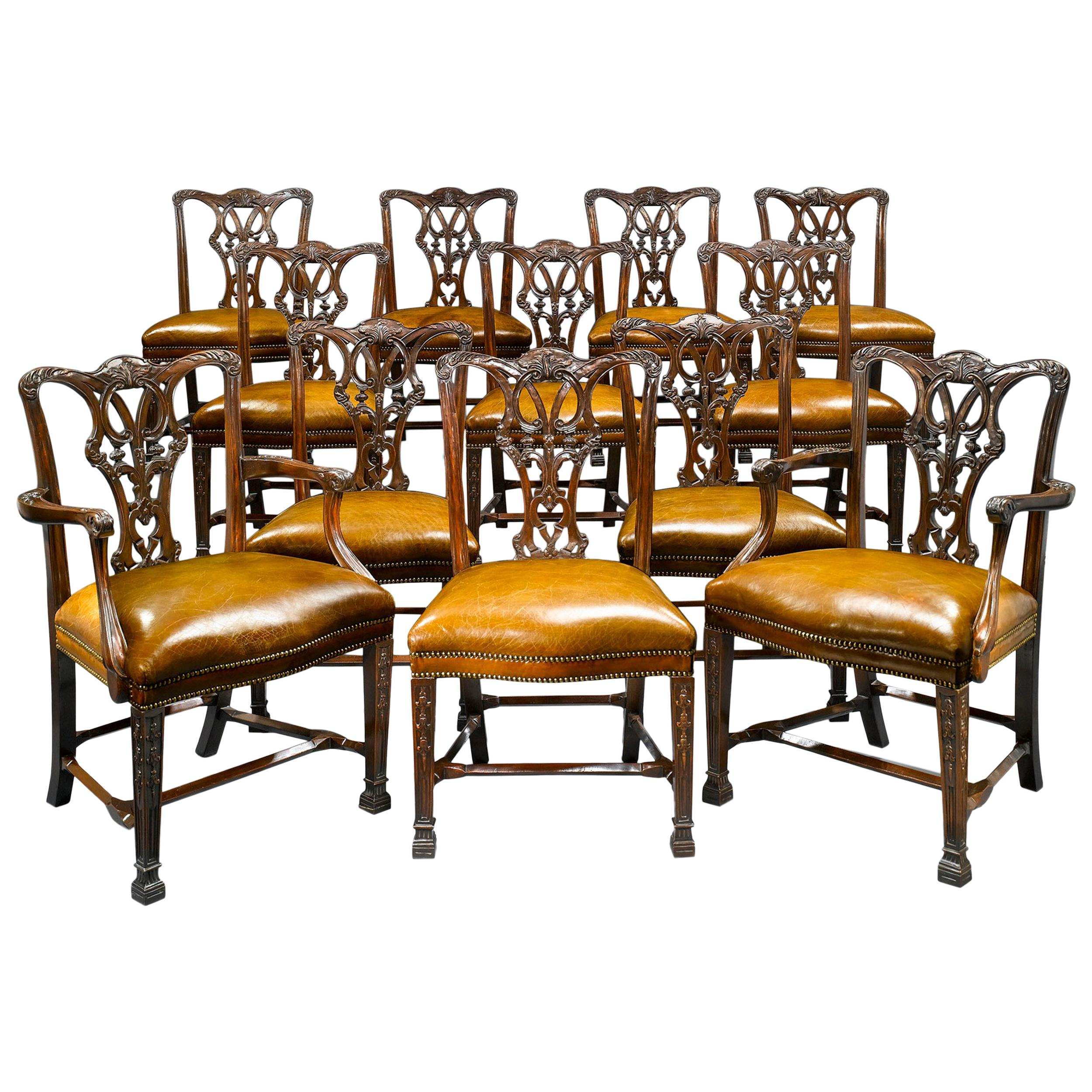 Chippendale-Style Mahogany Dining Chairs