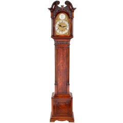 Chippendale Style Mahogany Grandmother Clock