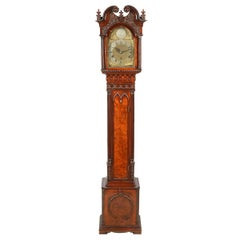 Chippendale Style Mahogany Grandmother Clock, Late 19th Century