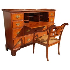 Chippendale Style Mahogany Secretary Desk by Baker