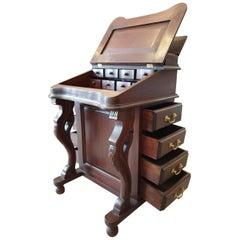 Chippendale Style Mahogany Tripartite Secretary Desk, 20th Century