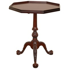 Chippendale Style Mahogany Tripod Table