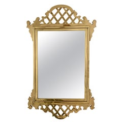 Chippendale Style Mirror in Solid Brass