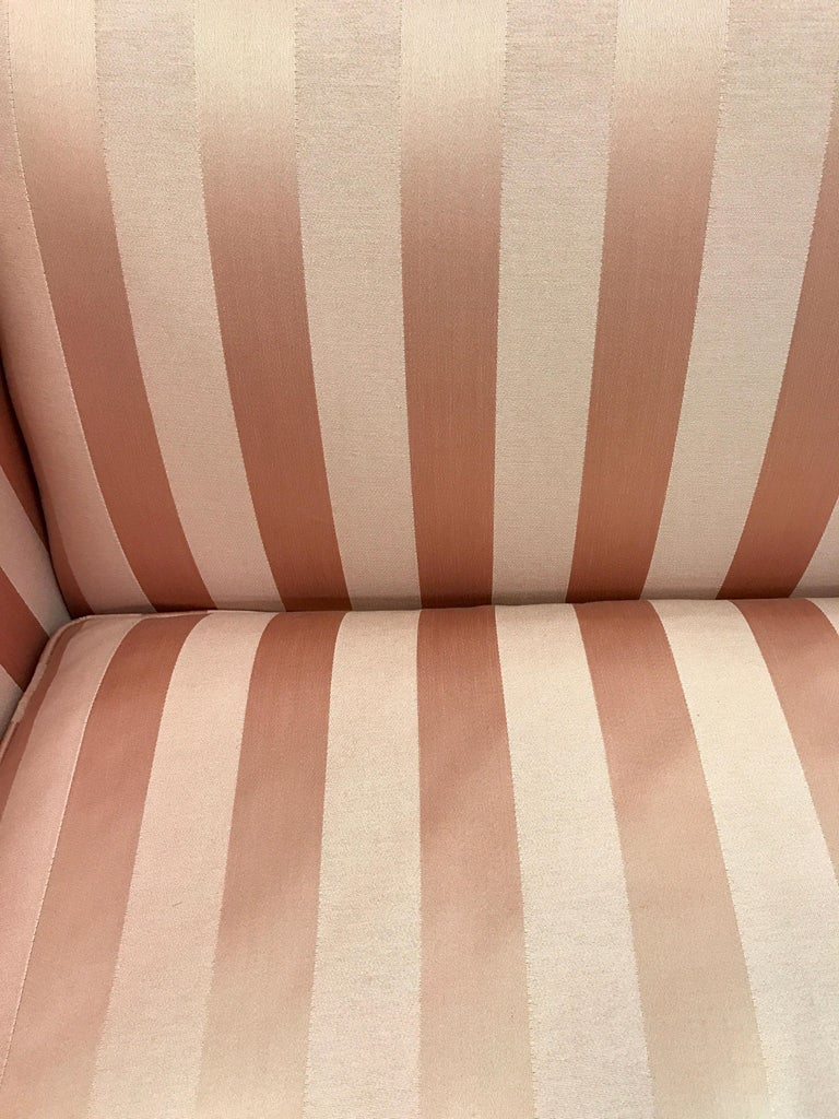 Chippendale Style Pink Camelback Mahogany Sofa At 1stdibs