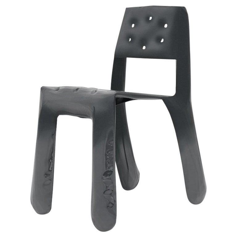 Chippensteel 0.5 Aluminium Chair in Graphite by Zieta For Sale
