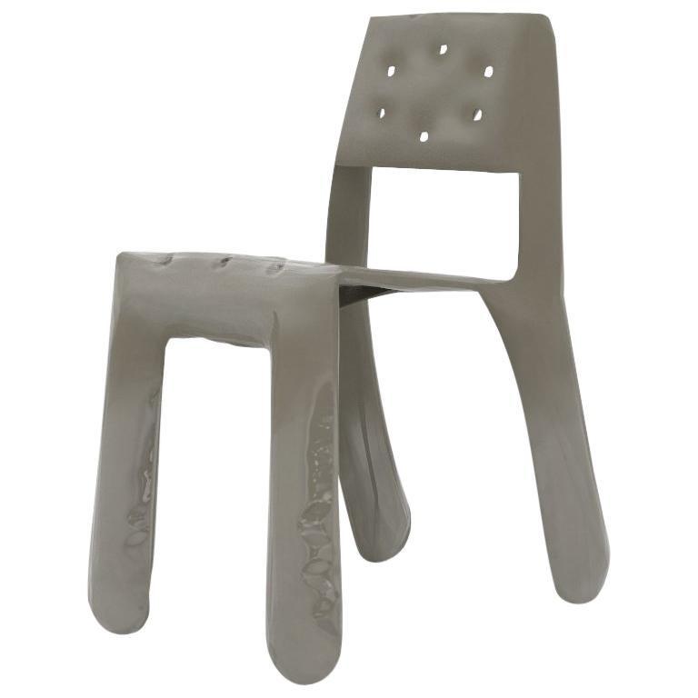 Chippensteel 0.5 Aluminum Chair in Beige Grey by Zieta For Sale