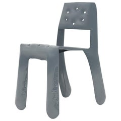 Chippensteel 0.5 Aluminum Chair in Blue Grey by Zieta