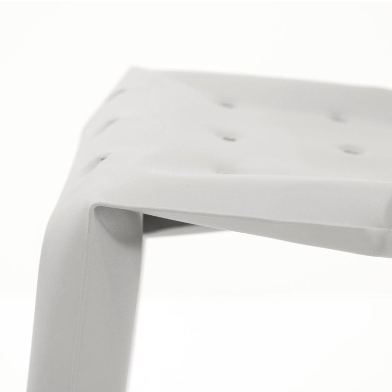 Modern Chippensteel 0.5 Aluminum Chair in Glossy White by Zieta For Sale