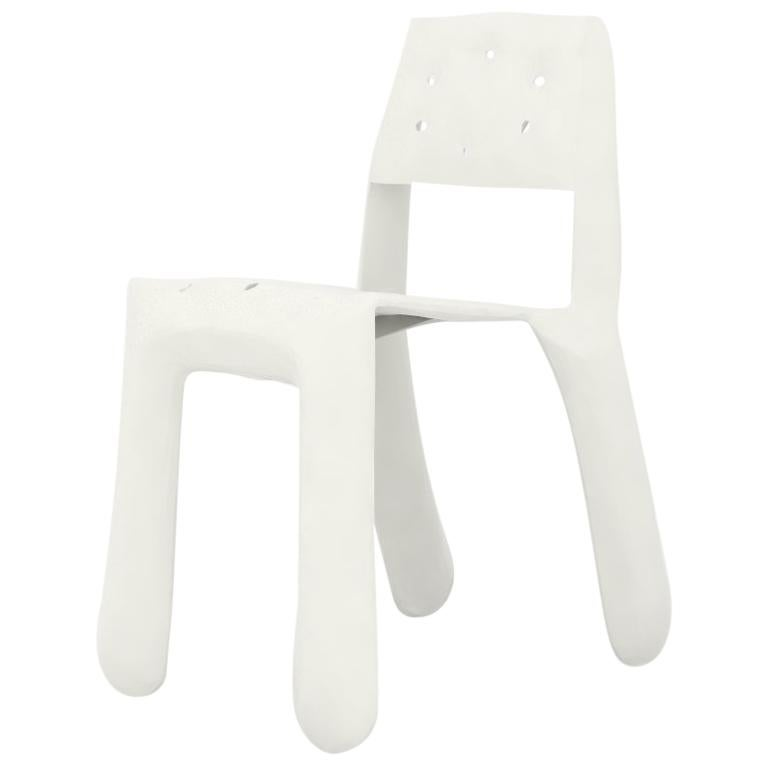 Chippensteel 0.5 Aluminum Chair in Glossy White by Zieta For Sale