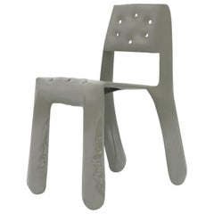 Chippensteel 0.5 Aluminum Chair in Moss Grey by Zieta