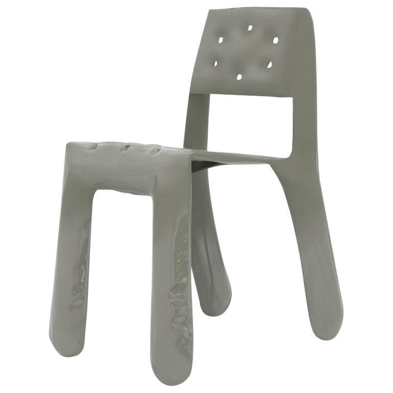 Chippensteel 0.5 Aluminum Chair in Moss Grey by Zieta For Sale