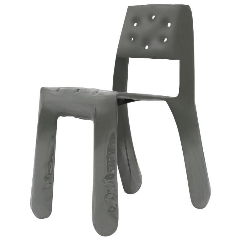 Chippensteel 0.5 Aluminum Chair in Umbra Grey by Zieta For Sale