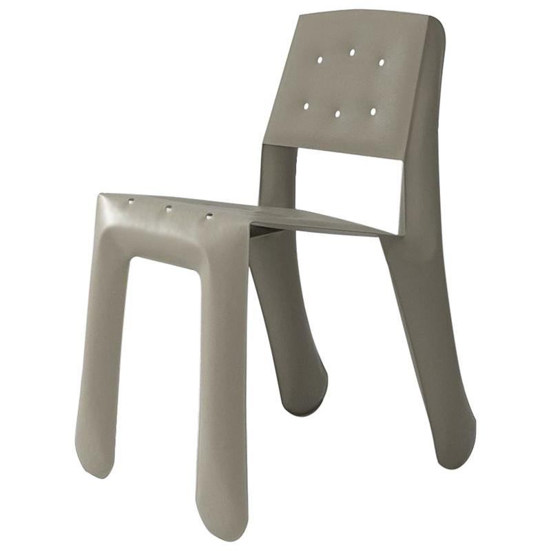 Chippensteel 0.5 Polished Beige Grey Color Carbon Steel Seating by Zieta