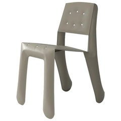 Chippensteel 0.5 Polished Beige Grey Color Carbon Steel Seating by Zieta