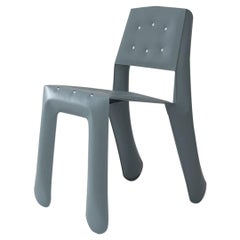 Chippensteel 0.5 Polished Blue Grey Color Aluminum Seating by Zieta