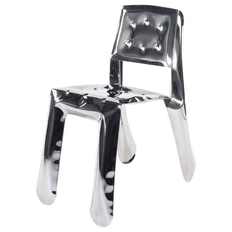 Chippensteel 0.5 Polished Stainless Steel Seating by Zieta For Sale