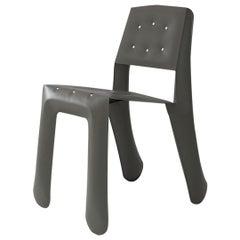 Chippensteel 0.5 Polished Umbra Grey Color Aluminum Seating by Zieta