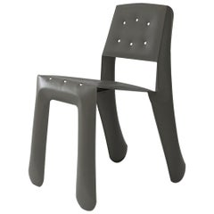 Chippensteel 0.5 Polished Umbra Grey Color Carbon Steel Seating by Zieta