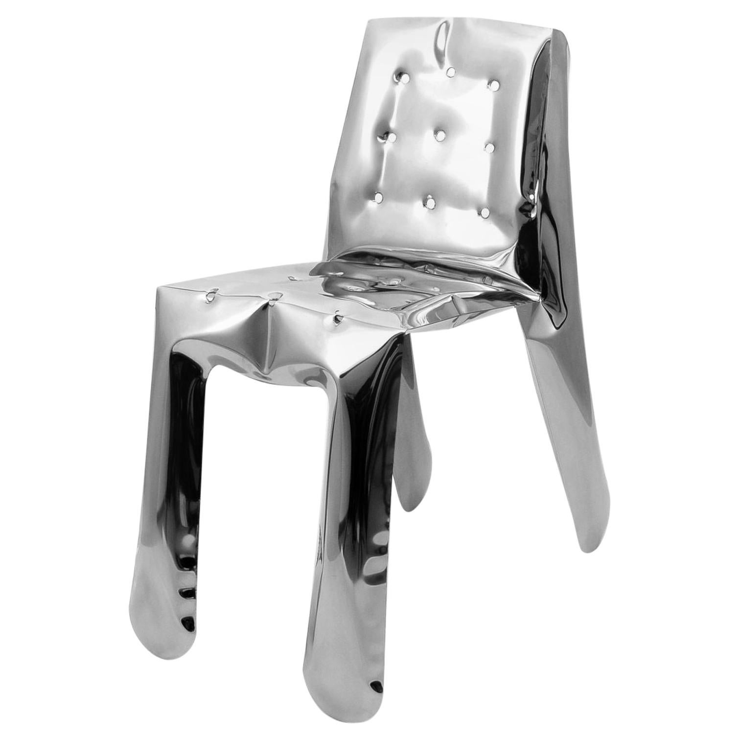 Chippensteel 1.0 Polished Raw Lacquered Color Carbon Steel Seating by Zieta