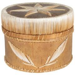 Chippewa Quilled Birch Bark Basket
