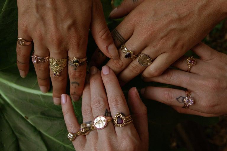 Women's Chiron Ring, 18 Karat Rose Gold with Morganite For Sale