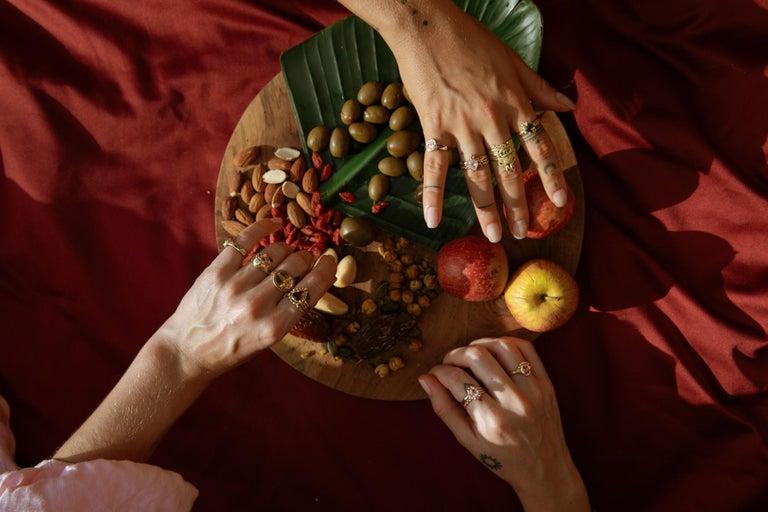 Chiron Ring, 18 Karat Rose Gold with Morganite For Sale 1