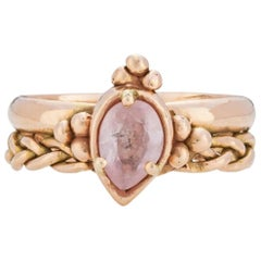 Chiron Ring, 18 Karat Rose Gold with Morganite