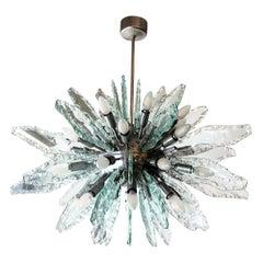 Chiseled Glass Sputnik Chandelier by ZeroQuattro