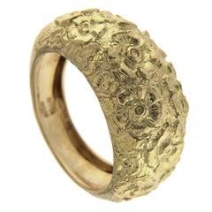 Chiseled Ring Yellow 18 Karat Gold