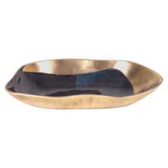 Chital Bowl Small in Blue Shell and Bronze-Patina Brass by Kifu Paris