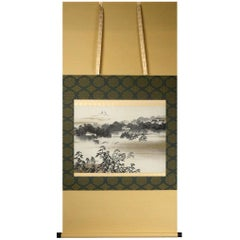 Chiyoda Castle 19th-20th Century Scroll Painting Japan Artist Taikan Yokoyama