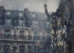 Music of Paris by Chizuru Morii Kaplan. Contemporary Watercolor. Paris.