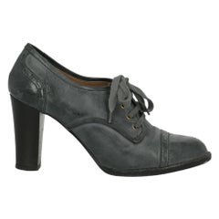 Chloé Woman Ankle boots Grey Leather IT 39