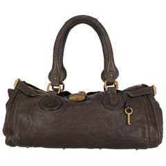 Chloé Woman Handbag Paddington Brown Leather