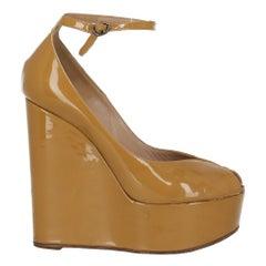 Chloé Woman Wedges Camel Color Leather IT 36.5