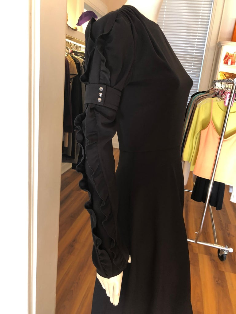 CHLOE 2018/19 NWT Black Crepe Dress Size 34 Fr In New Condition For Sale In Port Hope, ON