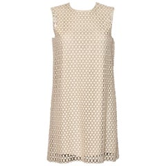 Chloé A-line Wool Crochet Dress