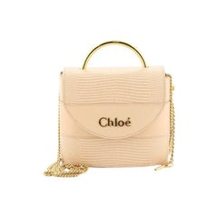 Chloe Aby Lock Bag Lizard Embossed Leather Small