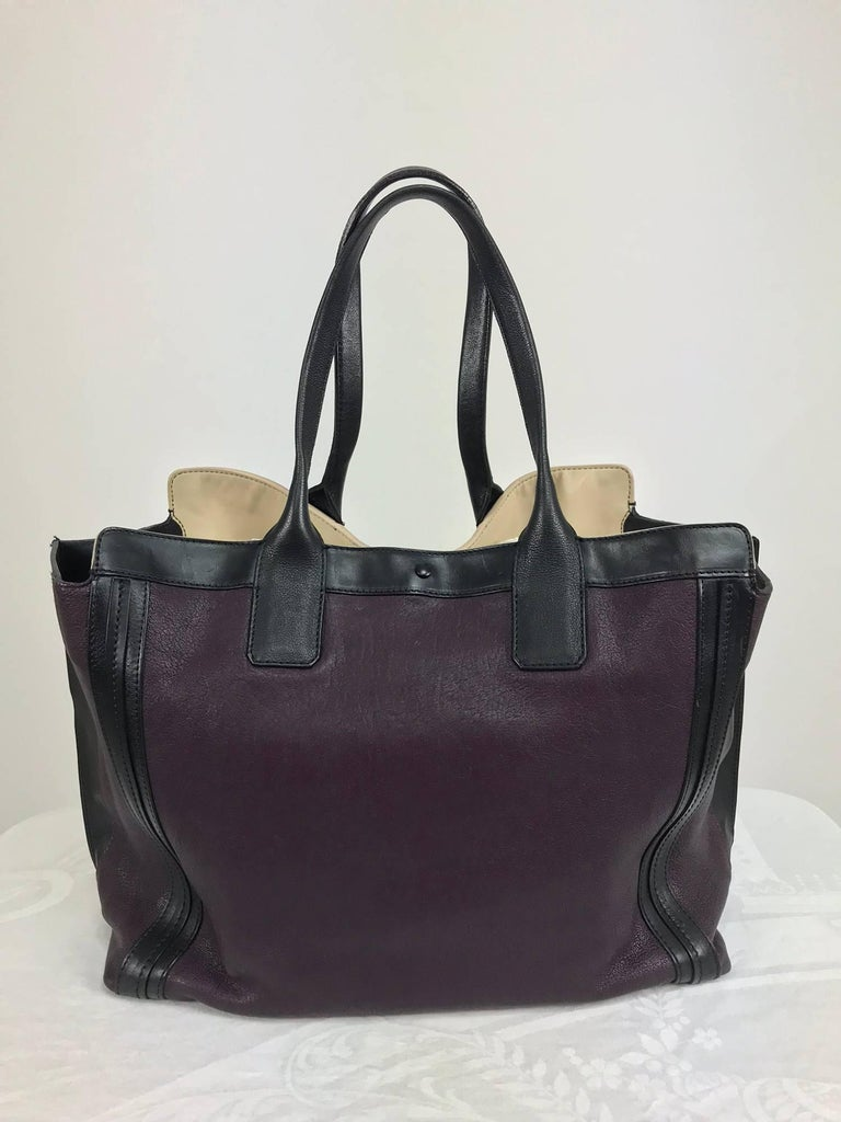 Chloe Alison East West tote in aubergine and black Large For Sale 9