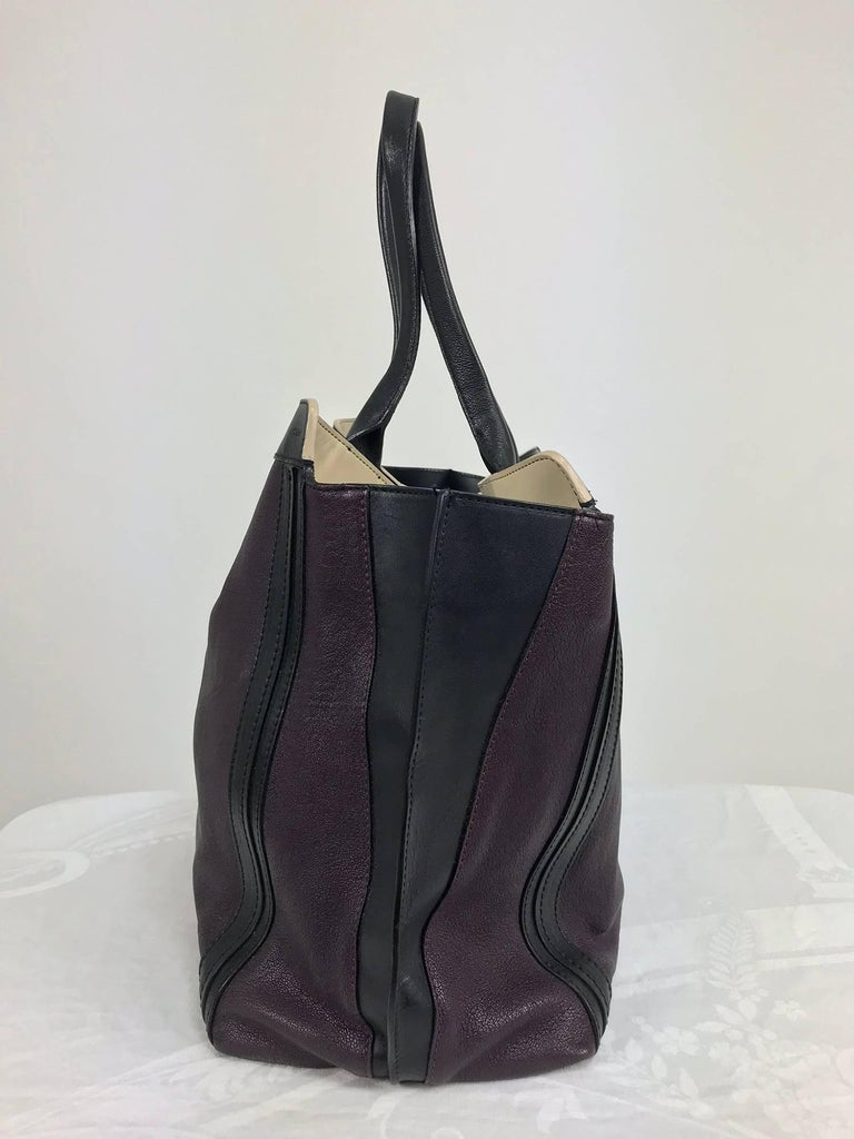 Chloe Alison East West tote in aubergine and black Large For Sale 1