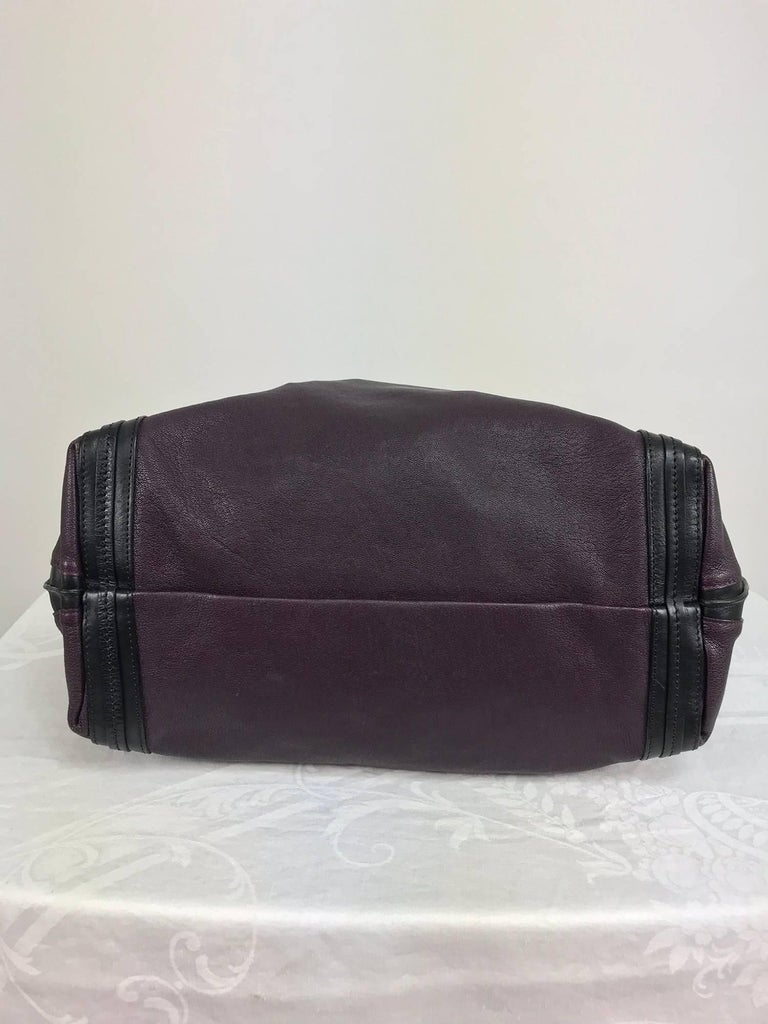 Chloe Alison East West tote in aubergine and black Large For Sale 2