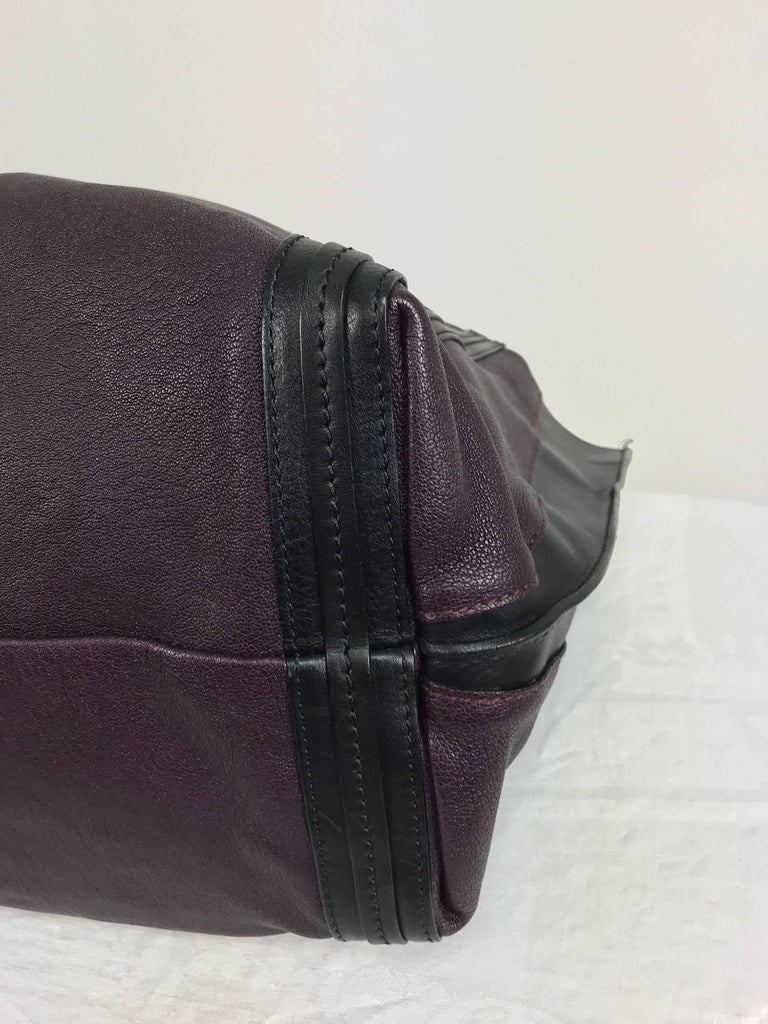 Chloe Alison East West tote in aubergine and black Large For Sale 4