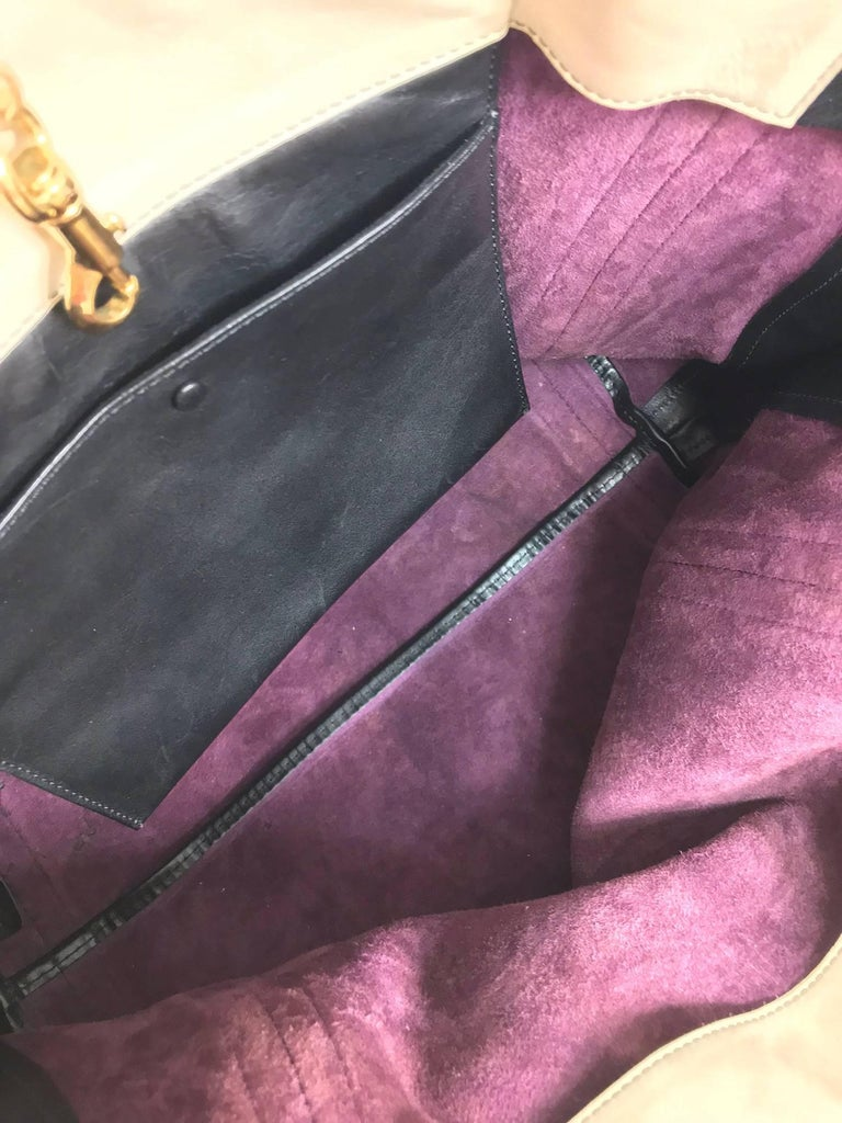 Chloe Alison East West tote in aubergine and black Large For Sale 5