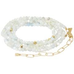 Chloe Aquamarine Gold 18 Karat Gemstone Convertible Wrap