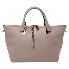 Chloe Beige/Brown Leather Medium Baylee Tote