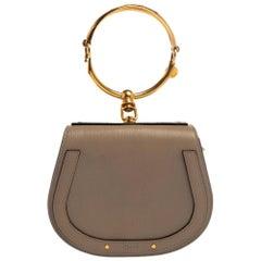 Chloe Beige Leather and Suede Small Nile Bracelet Shoulder Bag