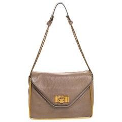 Chloe Beige Leather Medium Sally Flap Shoulder Bag