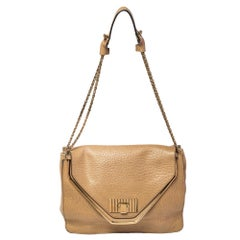 Chloé Beige Leather Medium Sally Flap Shoulder Bag