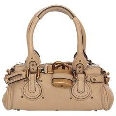CHLOE beige leather PADDINGTON MINI Satchel Shoulder Bag